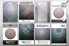 Set of 32 templates for brochures by VectorShop on Creative Market