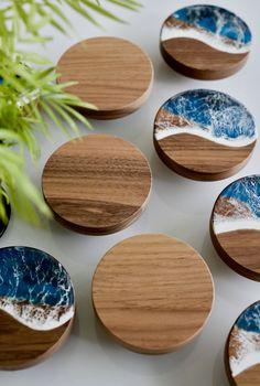 Diy Resin Art, Diy Resin Crafts, Diy Crafts To Sell, Diy Crafts For Kids, Wood Crafts, Resin And Wood Diy, Sell Diy, Diy Wood Projects, Woodworking Projects