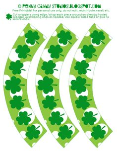 *Free* St. Patty's Day Cupcake Wrapper Printable