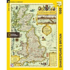 New York Puzzle Company - National Geographic Shakespeare's Britain - 1000 Piece Jigsaw Puzzle