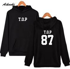 New Kpop Bigbang TOP Lite Sol VI Hoodies Young People Music Fans Hip Hop Skateboards Creative Hooded Hot Sale Sweatshirt #Affiliate