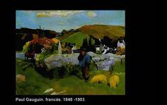 """Paul Gauguin (1848 -1903)  Nació en París, Francia. Pintor post impresionista del siglo XIX.  """"El Swineherd Britania"""""""