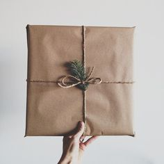simple kraft wrap
