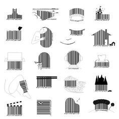 Japanese designer barcodes.
