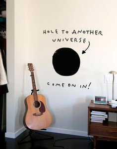 Cool wall decals, suitable for every room - Wandgestaltung Ideen - Design My New Room, My Room, Room Art, Deco Gamer, Decor Room, Home Decor, Science Room Decor, Diy Room Decor Tumblr, Room Diys Tumblr