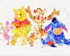 Disney Ursula Aquarell Kunstdruck Poster Home von MarcoFriend - Disney Paintings, Disney Artwork, Disney Drawings, Drawing Disney, Retro Disney, Vintage Disney, Disney Kunst, Arte Disney, Watercolor Disney