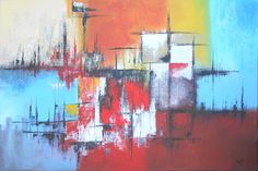 """Artwork 1340 """"Siret"""" - measuring 120 x 80cms painted in October 2013"""