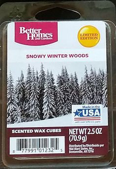Better homes gardens frosty winter nights better homes gardens walmart scented wax melts for Better homes and gardens wax melts