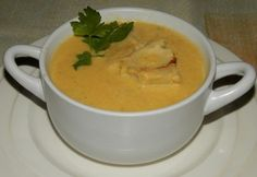 Skandinávská krémová jemná rybí polévka Cheeseburger Chowder, Thai Red Curry, Cooking Recipes, Ethnic Recipes, Desserts, Soups, Snacks, Dishes, Christmas