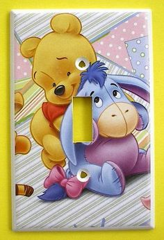 BABY Winnie the Pooh POOH EEYORE Single Switch Plate switchplate #3    Direct Link:   http://www.amazon.com/Winnie-EEYORE-Single-Switch-switchplate/dp/B004S7M2JI/?tag=greavidesto05-20
