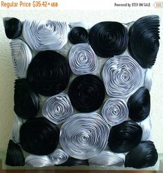 15% HOLIDAY SALE Handmade  Black Throw Pillows by TheHomeCentric