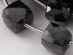 Natural ''NO TREATMENT'' Black Onyx Large Faceted Cube Beads, Jet Black AAA Quality Gemstones 7x7mm, 1 Strand, (X7x7CUBE)