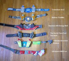 Hydration belt reviews, with great pictures highlighting features!