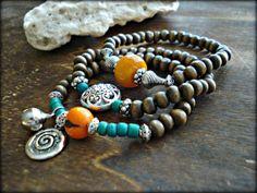 Yoga Bracelet  Yoga Stack Bracelets  Yoga by HandcraftedYoga, $36.00