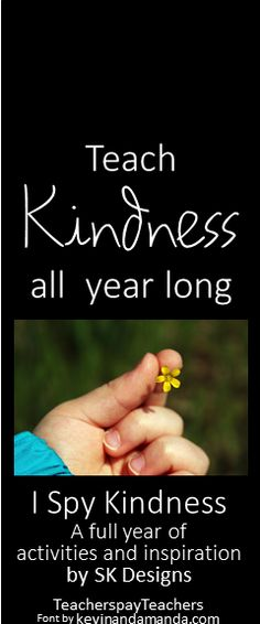 Lessons, projects, activities and inspiration for teaching kindness and character throughout the school year! SK Designs TeacherspayTeachers