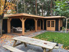 Backyard Bar, Modern Backyard, Garden Lodge, Pool Shed, Dutch Gardens, Summer House Garden, Garden Workshops, House Extension Design, Diy Shed Plans