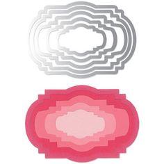 Sizzix Framelits Die Set Ornate Labels #2