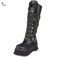 Demonia RAVAGE-II Blk Leather Size UK 3 EU 36 - Chaussures demonia (*Partner-Link)