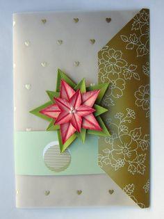 Umschlagkarte mit Weihnachtsstern   http://eris-kreativwerkstatt.blogspot.de/2014/11/umschlagkarte-mit-weihnachtsstern.html