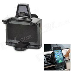 360 grados giratoria Air Car Vent Condición titular del stand para el iPhone 5 + GPS + Más - Negro SKU: 196820 (Añadido el 3/28/2013) Precio: US$  5.70 Envío: Envío Gratis A SPAIN ColorNegro      -    MaterialABS Grado ajustable360 grados fácil de ser instalado en la rejilla de ventilación del aire acondicionado o cualquier superficie plana con los lados dobles de cinta adhesiva en su coche Contenido del paquete1 x Soporte  4 x Ganchos