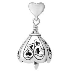 Nestled Hearts Bell Pendant