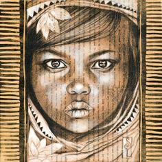 Les lotus blancs (Madagascar)   Stephanie Ledoux Collage Portrait, Abstract Portrait, Contemporary Art Artists, Ballpoint Pen Art, Figurative Kunst, Ledoux, Art Japonais, Inspiration Art, Impressionist Art