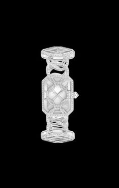 Watch in 18K white gold, rock crystal and diamonds. - CHANEL