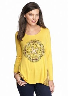 New Directions Weekend  Elephant Woven Back Top