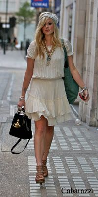 Stage Outfits, Fashion Outfits, Fashion Ideas, Fearne Cotton, Cotton Style, Her Style, Style Icons, White Dress, Street Style