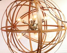Orb Chandelier Industrial Sphere 18 with 3 by TheLightingPalace