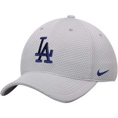 Los Angeles Dodgers Nike Mesh Logo Performance Adjustable Hat - Gray - $23.99