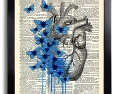 Brain Human Anatomy Flowers Dictionary Art Print, Anatomical Brain, Anatomy Brain Poster, Vintage Human Brain Wall Decor, Gift for Man 029 by PrintsVariete