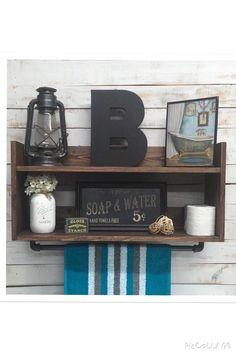 Bathroom shelf unit, bathroom towel shelf, home decor, bathroom storage, bathroom storage organizer, bathroom wall shelf by countrycornergoods on Etsy https://www.etsy.com/listing/256089383/bathroom-shelf-unit-bathroom-towel-shelf