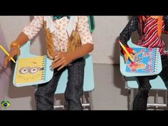 Como fazer estojo escolar e lancheira para boneca Monster High, Barbie, MLP, EAH, etc - YouTube