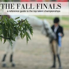 Check out this blog post! 'The Fall Talent Finals'