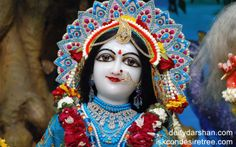 To view Radha Close Up Wallpaper of ISKCON Chowpatty in difference sizes visit - http://harekrishnawallpapers.com/srimati-radharani-close-up-wallpaper-032/
