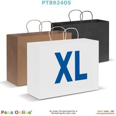 Extra-Large-sized paper carry bag: The natural and black coloured paper bags are made from recycled paper. Branded with your logo by PensOnline in NZ Paper Paper, Paper Crafts, Image Paper, Magnifying Glass, Carry Bag, Colored Paper, Paper Shopping Bag, Recycling