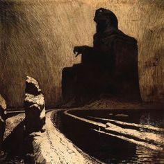 The Black Idol by Franz Kupka