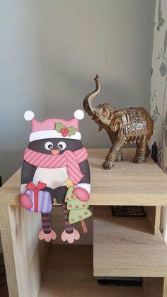 Shelf On Wall Apartment Therapy shelf interior laundry rooms. Desk Shelves, Metal Shelves, Pink Christmas, Christmas Cards, Bath Shelf, Penguins, Dinosaur Stuffed Animal, Greeting Cards, Etsy Shop
