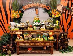 "Safari / Birthday ""Bernardo 1'st Safari"" | Catch My Party"