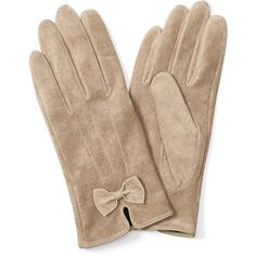 Monsoon Suede Gloves with Bow