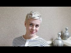 Pixie Cut Hairstyle Using Mini Flat Iron / Messy & Textured - YouTube