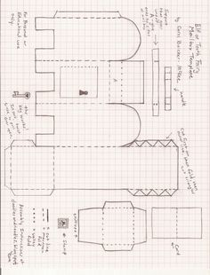 Free mail box printables mail boxes diy paper and free for Rework instructions template