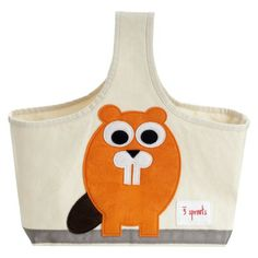 This is pretty much the cutest thing ever. 3 Sprouts Storage Caddy Beaver from Target.com.