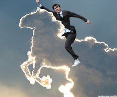 David Tennant in places he shouldn't be - ON SCOTLAND'S ANIMAL! David Tennant riding a unicorn >>>> David Tennant riding a cloud unicorn David Tennant, Doctor Who, 10th Doctor, Jason Grace, Bizarre, Don't Blink, Geronimo, Bad Wolf, Heroes Of Olympus