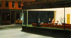 Edward Hopper, reminds me of the corner of my work place.