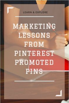 Marketing Lessons From Pinterest Promoted Pins