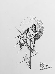 Wolf Tattoos, Body Art Tattoos, Art Drawings Sketches, Tattoo Sketches, Tattoo Drawings, Geometric Wolf Tattoo, Geometric Drawing, Family First Tattoo, Crystal Drawing