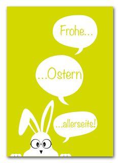 Zu Ostern: Einfach mal liebe Grüße verschicken von unbunt auf DaWanda.com