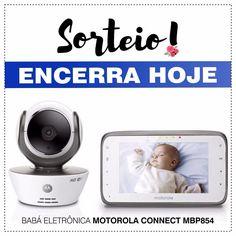 """🔹 ENCERRA HOJE!!! 🔹 Mamães, em parceria com o insta @boutiqueprimeirospassos, sortearemos esta Babá Eletrônica Motorola Connect MBP854! 👶🏼✨ Perfeita para as mamães de plantão! 😍🙋🏻 (Valor do prêmio no Brasil: R$ 1.199,00 😱). ⠀ ✔️ INFORMAÇÕES SOBRE O PRÊMIO: ✅ Uma câmera com tecnologia FHSS 2,4GHz WIRELESS e WiFi que garante que seu bebê o ouvirá em alto e bom som; ✅ Um display de LCD de 4,3"""" colorido oferecendo monitoração com imagem, som e visão noturna (imagem em preto e branco); ✅…"""